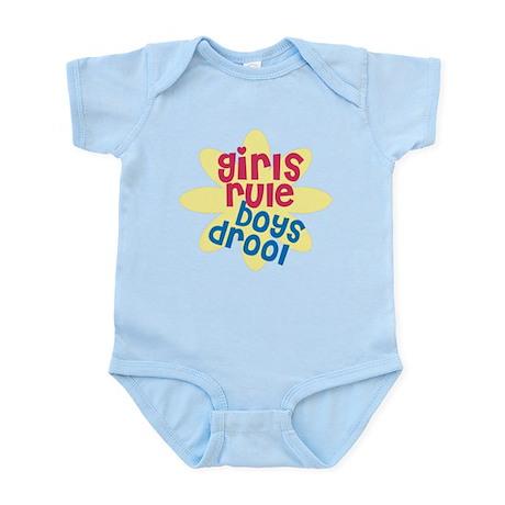 Girls Rule Boys Drool Infant Bodysuit