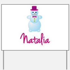 Natalia the snow woman Yard Sign