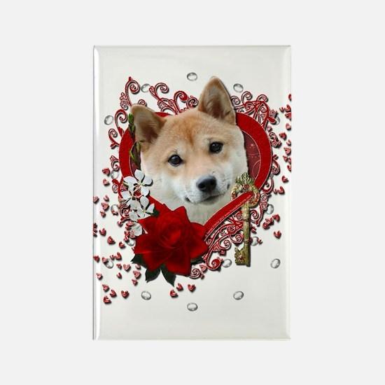 Valentines - Key to My Heart Shiba Inu Rectangle M