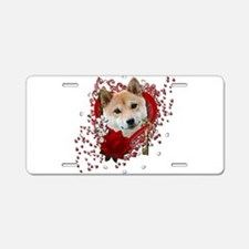 Valentines - Key to My Heart Shiba Inu Aluminum Li