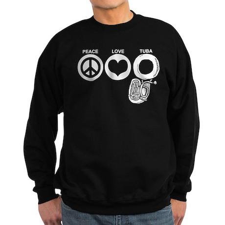Peace Love Tuba Sweatshirt (dark)