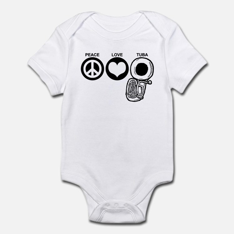 Peace Love Tuba Infant Bodysuit