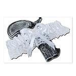Black Pistol Garter Belt Postcards (Package of 8)