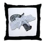 Black Pistol Garter Belt Throw Pillow