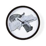 Black Pistol Garter Belt Wall Clock