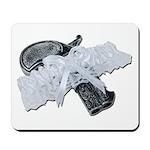 Black Pistol Garter Belt Mousepad