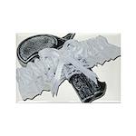 Black Pistol Garter Belt Rectangle Magnet (100 pac