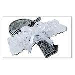 Black Pistol Garter Belt Sticker (Rectangle 10 pk)
