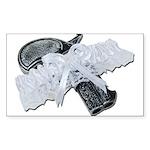 Black Pistol Garter Belt Sticker (Rectangle)