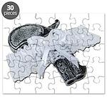 Black Pistol Garter Belt Puzzle