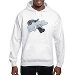Black Pistol Garter Belt Hooded Sweatshirt