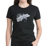 Black Pistol Garter Belt Women's Dark T-Shirt