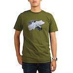 Black Pistol Garter Belt Organic Men's T-Shirt (da