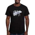 Black Pistol Garter Belt Men's Fitted T-Shirt (dar