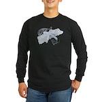 Black Pistol Garter Belt Long Sleeve Dark T-Shirt