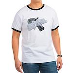 Black Pistol Garter Belt Ringer T