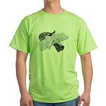 Black Pistol Garter Belt Green T-Shirt