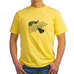 Black Pistol Garter Belt Yellow T-Shirt