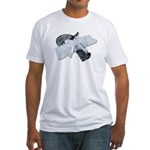 Black Pistol Garter Belt Fitted T-Shirt