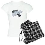 Black Pistol Garter Belt Women's Light Pajamas