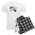 Black Pistol Garter Belt Men's Light Pajamas