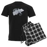 Black Pistol Garter Belt Men's Dark Pajamas