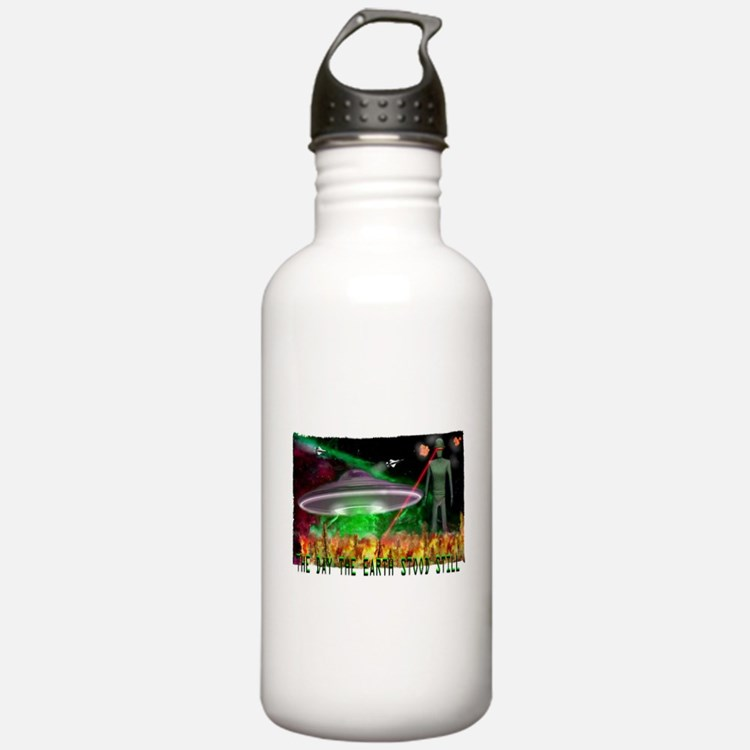 the day the earth stood still Sports Water Bottle