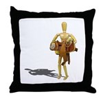Carrying Western Saddle Throw Pillow