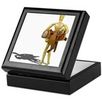 Carrying Western Saddle Keepsake Box