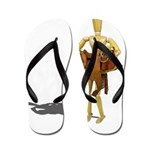 Carrying Western Saddle Flip Flops