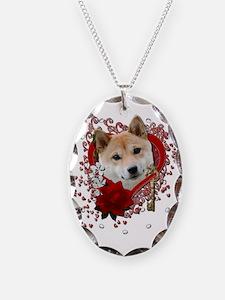 Valentines - Key to My Heart Shiba Inu Necklace