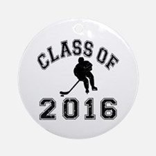 Class Of 2016 Hockey Ornament (Round)