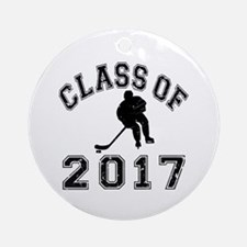 Class Of 2017 Hockey Ornament (Round)