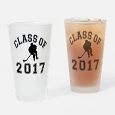Class Of 2017 Hockey Drinking Glass