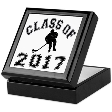 Class Of 2017 Hockey Keepsake Box