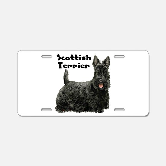 Scottish Terrier Aluminum License Plate