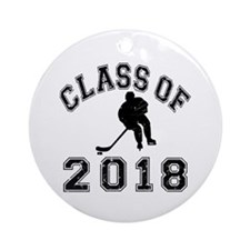 Class Of 2018 Hockey Ornament (Round)