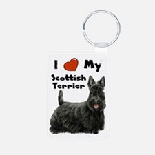 I Love My Scottish Terrier Keychains