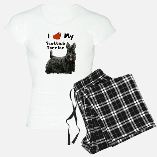 I Love My Scottish Terrier Pajamas