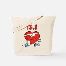 Half-marathon heart Tote Bag