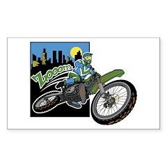 Zooom - Dirt Bike Rectangle Decal