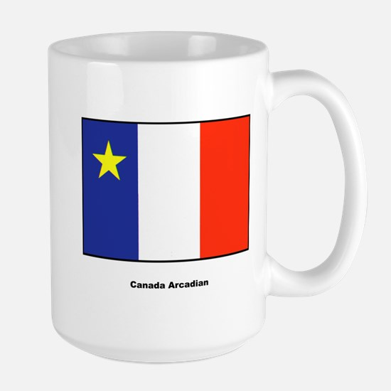 Canada Arcadian Flag Large Mug