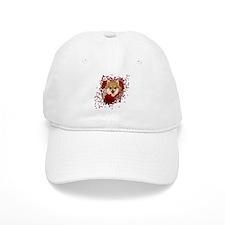 Valentines - Key to My Heart Pomeranian Baseball Cap