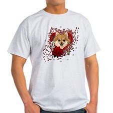 Valentines - Key to My Heart Pomeranian T-Shirt