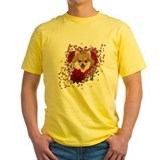 Pomeranian roses Mens Classic Yellow T-Shirts