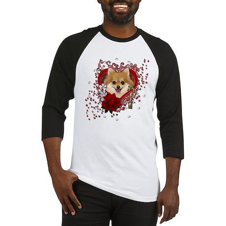 Valentines - Key to My Heart Pomeranian Baseball J