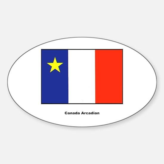 Canada Arcadian Flag Oval Decal