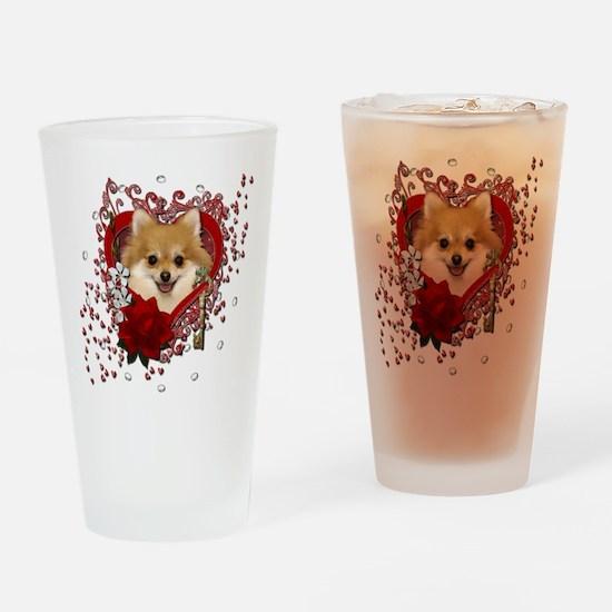 Valentines - Key to My Heart Pomeranian Drinking G