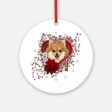 Valentines - Key to My Heart Pomeranian Ornament (