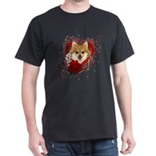 Valentines - Key to My Heart Pomeranian T-Shirt